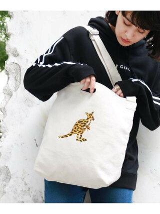 THE SHOP TK 【KANGOL/カンゴール別注】キャンバス2WAYトートバッグ ザ ショップ ティーケー バッグ トートバッグ ホワイト【送料無料】