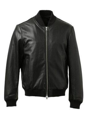 J. Press Sheep Leather Zip Up Blouson JROVYW0205: Black