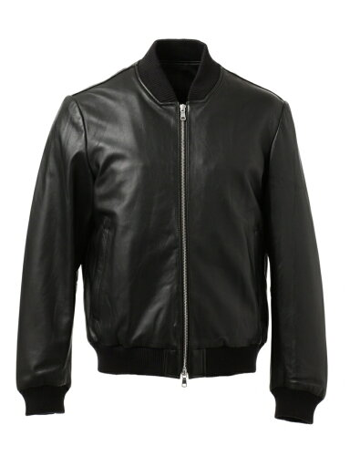 J. Press Sheep Leather Zip Up Blouson JROVYW0205: Black