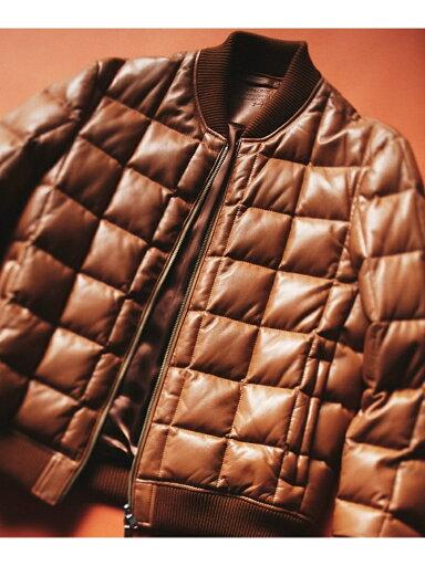 J. Press Sheep Leather Down Blouson JROVYW0206: Brown
