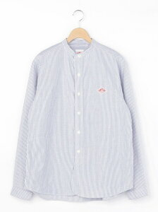 Bshop 【DANTON】長袖バンドカラーシャツ TRD MEN ビショップ シャツ/ブラウス 長袖シャツ ネイビー【送料無料】