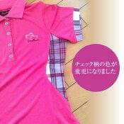 【あす楽対応】【ポロシャツ】【EXELLENTGOLF】【ストレッチ素材】チェックポイントポロシャツ(ゴルフウェアレディ−スゴルフウエアシャツ)