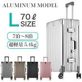 スーツケースLサイズアルミニウムボディ