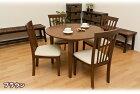ダイニング丸テーブルダイニングセット5点食卓テーブル,ダイニングテーブル5点セット丸テーブル円卓円形,北欧風ブラウンナチュラル【チェア完成品】【送料無料】