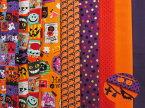 『ワンコインカットクロス(おまけ付き)』【ハロウィンセット】小物作りにぴったり♪25cm×25cmの小さめカットクロス8枚セットモチーフミニレースのおまけ付きお菓子を配るミニバッグなどハンドメイドをしませんか?手作り/ハロウィーン