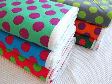 キャンディーパーティーシリーズのプリント生地【Large dot print】ラージドットプリントきれいな色の組み合わせ&大きめドットがかわいいプリント生地です。CandyParty 2012 Collection