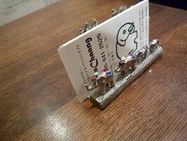ピューター製カードホルダー(ぞうファミリー)