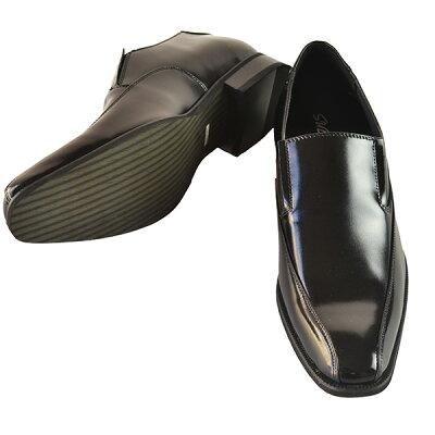 スリッポンシューズビジネスシューズシークレットブーツシークレットシューズインヒール6cmUPブラック本皮送料無料靴くつ25cm26cm27cmスタイリッシュメンズシューズ仕事用通勤用オシャレスニーカー
