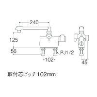 バス水栓金具サーモデッキシャワー混合栓SK78D-13「E-MIX」三栄水栓【送料無料】02P01Mar1