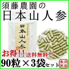 【日本山人参】ヒュウガトウキ100%粉末カプセル90粒×3袋