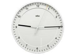 ブラウン壁掛け時計BRAUNCLOCKBNC017WHWH丸型ホワイト壁掛け時計お祝いプレゼント