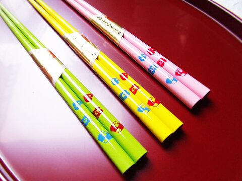 子供箸クッキー1膳帯封付きカラー全3色遠足 お弁当 学校 子供 ミニサイズ かわいい カトラリー 和食器