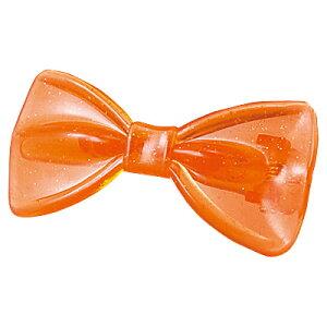 【数量限定】お1人様10点まで★オレンジ ラメ入りリボン ヘアクリップ キッズヘア 女の子 ジュ...