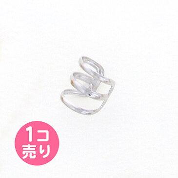 シルバー 銀 細め3連風 イヤーカフ 1個売り キッズ ジュニア レディース【メール便・同梱OK】