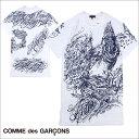 コムデギャルソン HOMME PLUS COMME des GARCONS Tシャツ 半袖 ロング丈 ホワイト メンズ [S40][返品不可]