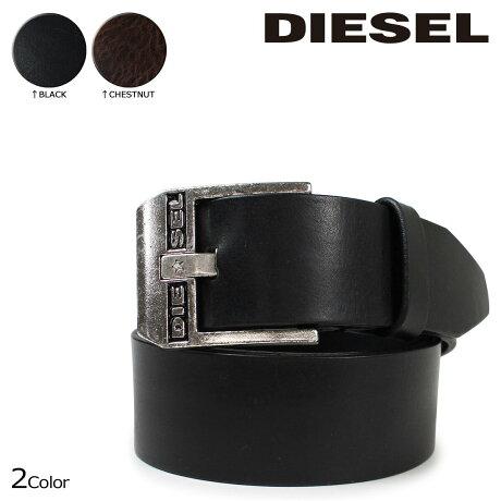 ディーゼル DIESEL ベルト メンズ レザー 本革 ロゴ入り カジュアル BLUESTAR X03728 PR227 ブラック ブラウン