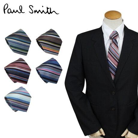 ポールスミス ネクタイ シルク メンズ Paul Smith ストライプ ギフト ケース付 イタリア製 ビジネス 結婚式 [予約商品 9/6頃入荷予定 再入荷]