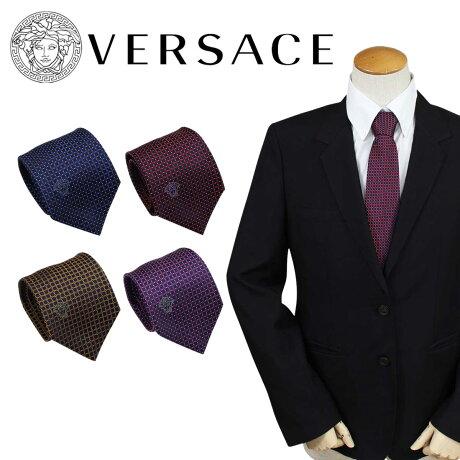 VERSACE ネクタイ シルク ヴェルサーチ ベルサーチ メンズ ギフト ケース付 イタリア製 ビジネス 結婚式 [3/6 追加入荷]