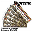 シュプリーム ステッカー Supreme シール CAPONE N NOREAGA メンズ レディース