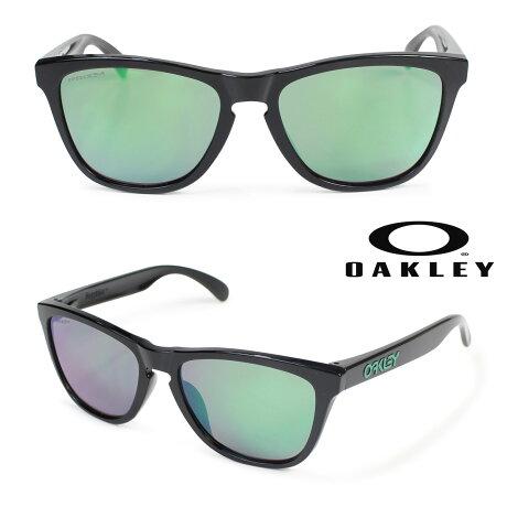 オークリー サングラス アジアンフィット Oakley Frogskins フロッグスキン ASIA FIT OO9245-6454 ブラック メンズ レディース [6/4 再入荷]