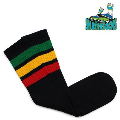スケーター ソックス Skater Socks チューブソックス 19インチ 靴下 19 INCH MID-CALF STRIPED TUBE SOCKS メンズ レディース グリーン ゴールド レッド [2/6 追加入荷]【ネコポス可】