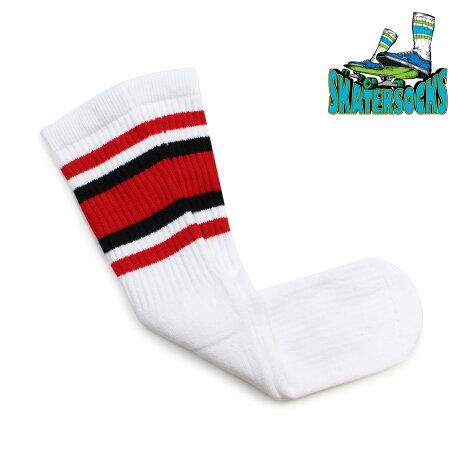 スケーター ソックス Skater Socks チューブソックス 19インチ 靴下 19 INCH MID-CALF STRIPED TUBE SOCKS メンズ レディース レッド ブラック [5/16 追加入荷]【ネコポス可】
