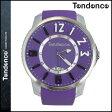 テンデンス TENDENCE 腕時計 SLIM POP スリムポップ 47mm TG131002 ウォッチ 時計 パープル PURPLE 3H メンズ レディース