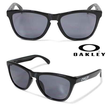 オークリー サングラス アジアンフィット Oakley Frogskins フロッグスキン ASIA FIT OO9245-01 ブラック メンズ レディース [6/4 追加入荷]