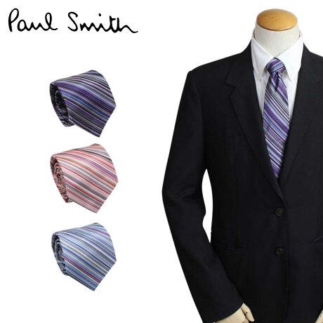 Paul Smith ネクタイ シルク メンズ ポールスミス ストライプ ギフト ケース付 イタリア製 ビジネス 結婚式 [3/6 追加入荷]