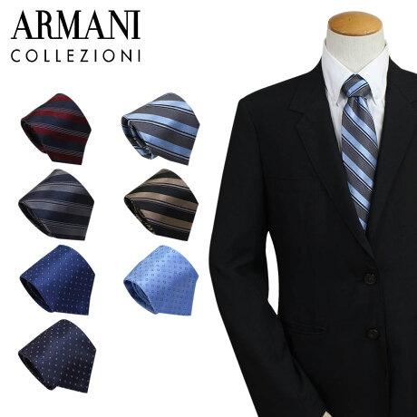 アルマーニ ネクタイ ARMANI COLLEZIONI コレツィオーニ イタリア製 シルク ビジネス 結婚式 メンズ [2/6 追加入荷]