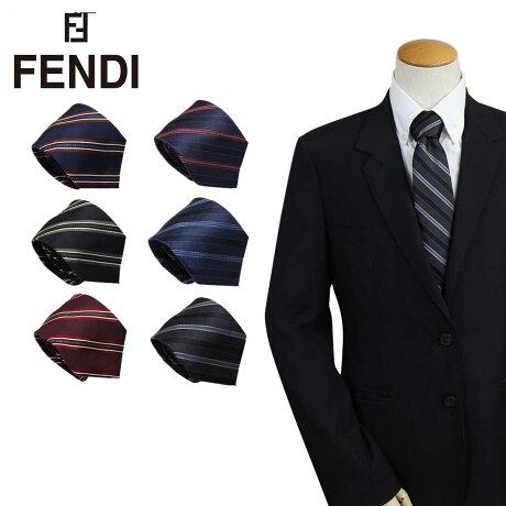 FENDI フェンディ ネクタイ シルク イタリア製 ビジネス 結婚式 メンズ [3/6 追加入荷]
