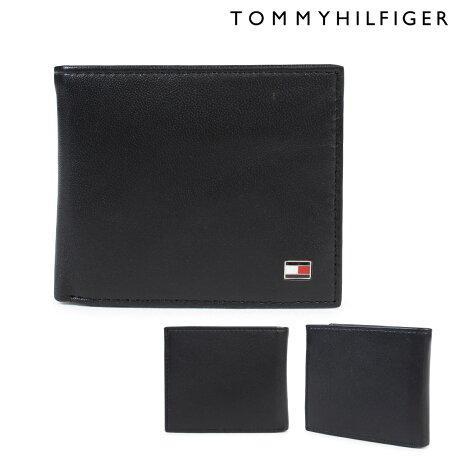 トミーヒルフィガー 財布 TOMMY HILFIGER 二つ折り財布 メンズ レザー OXFORD BI-FOLD WALLET 96-4511 31TL25X003 ブラック [6/12 追加入荷]