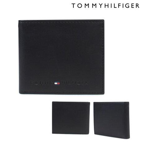 トミーヒルフィガー 財布 TOMMY HILFIGER 二つ折り財布 メンズ レザー WALLESLEY BI-FOLD WALLET 4859 31TL25X005-001 ブラック [2/14 再入荷]