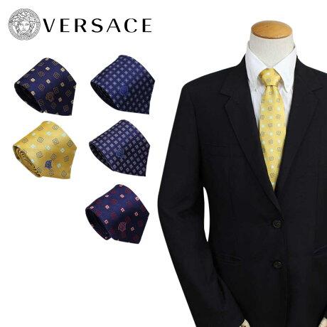 ベルサーチ ネクタイ シルク ヴェルサーチ VERSACE メンズ ギフト ケース付 イタリア製 ビジネス 結婚式 [7/3 追加入荷]