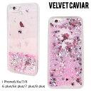 Velvet Caviar ヴェルヴェット キャビア iPhone8 iPhone7 8 Plus 7Plus 6s 6 ケース スマホ iPhoneケース アイフォン アイフォーン ベルベット HEARTS GLITTER IPHONE CASE レディース ピンク