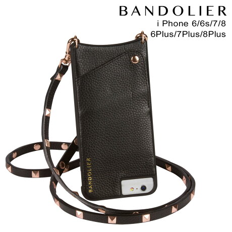 バンドリヤー BANDOLIER iPhone8 iPhone7 7Plus 6s ケース スマホ アイフォン プラス SARAH ROSE GOLD ブラック