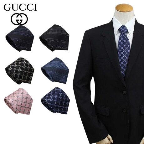 GUCCI グッチ ネクタイ イタリア製 シルク ビジネス 結婚式 TIE メンズ [3/6 追加入荷]