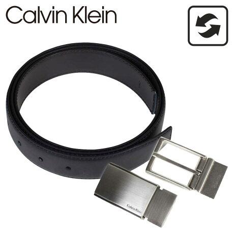 カルバンクライン ベルト Calvin Klein メンズ 本革 ベルトセット リバーシブル バックル CK ビジネス ブラック ブラウン 74142 [5/15 追加入荷]