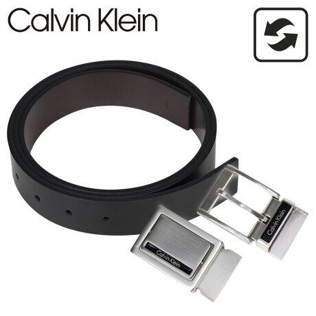 カルバンクライン Calvin Klein ベルト メンズ 本革 ベルトセット リバーシブル バックル CK ビジネス ブラック ブラウン 74203 [予約商品 10/18頃入荷予定 再入荷]