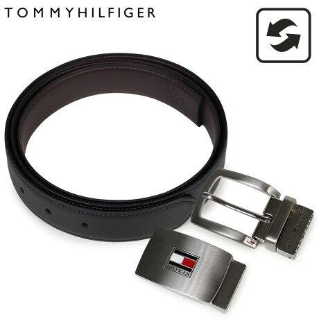 トミーヒルフィガー ベルト TOMMY HILFIGER メンズ 本革 ベルトセット リバーシブル バックル ビジネス ブラック ブラウン 11TL08X007-014