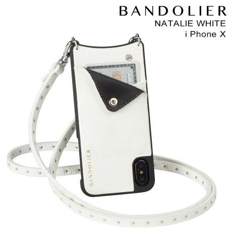 BANDOLIER バンドリヤー iPhoneX ケース スマホ アイフォン NATALIE WHITE レザー メンズ レディース [予約商品 2/14頃入荷予定 新入荷]