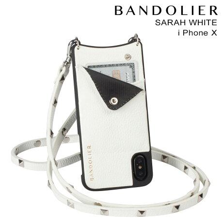 BANDOLIER バンドリヤー iPhoneX ケース スマホ アイフォン EMMA WHITE レザー メンズ レディース [予約商品 2/14頃入荷予定 新入荷]