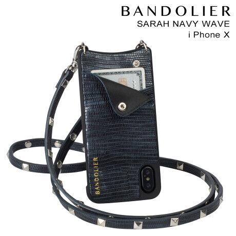 BANDOLIER バンドリヤー iPhoneX ケース スマホ アイフォン SARAH NAVY WAVE メンズ レディース [予約商品 2/14頃入荷予定 新入荷]