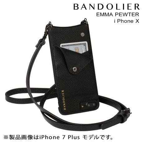 BANDOLIER バンドリヤー iPhoneX ケース スマホ アイフォン EMMA PEWTER レザー メンズ レディース [2/19 新入荷]