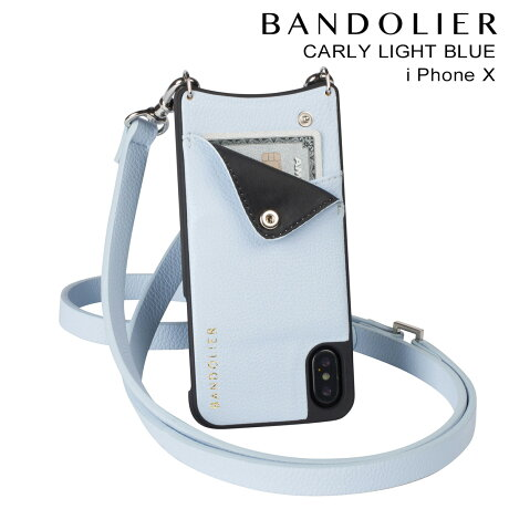 BANDOLIER バンドリヤー iPhoneX ケース スマホ アイフォン CARLY LIGHT BLUE レザー メンズ レディース [予約商品 2/14頃入荷予定 新入荷]