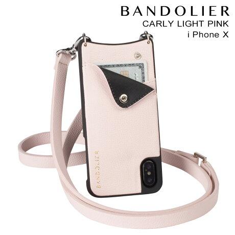 BANDOLIER バンドリヤー iPhoneX ケース スマホ アイフォン CARLY LIGHT PINK レザー メンズ レディース [予約商品 2/14頃入荷予定 新入荷]