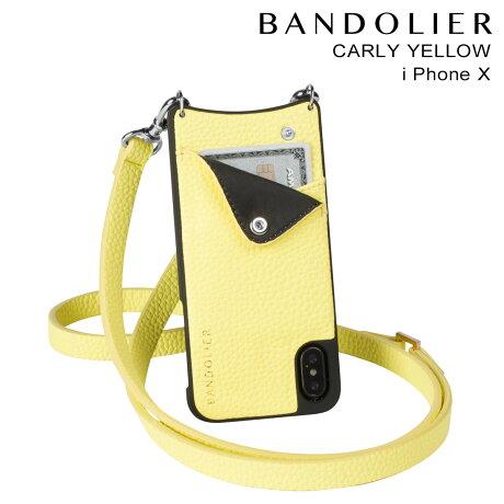 BANDOLIER バンドリヤー iPhoneX ケース スマホ アイフォン CARLY YELLOW レザー メンズ レディース [予約商品 2/14頃入荷予定 新入荷]