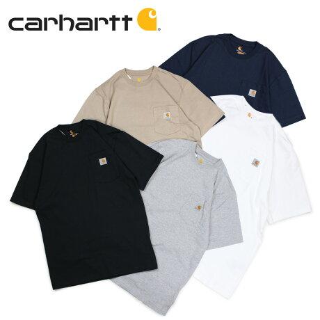 カーハート carhartt Tシャツ 半袖 メンズ ポケット ポケT WORKER POCKET S/S T-SHIRTS ブラック ホワイト グレー ネイビー ベージュ 黒 K87 [9/13 追加入荷]