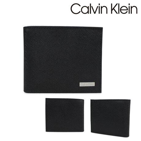 カルバンクライン Calvin Klein 財布 二つ折り 小銭入れ付 メンズ BILFOLD W/COIN CASE ブラック 79393 [9/4 再入荷]