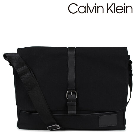 カルバンクライン Calvin Klein バッグ メンズ ショルダーバッグ メッセンジャー COATED CANVAS PU MESSENGER ブラック 2975019696 [6/12 追加入荷]